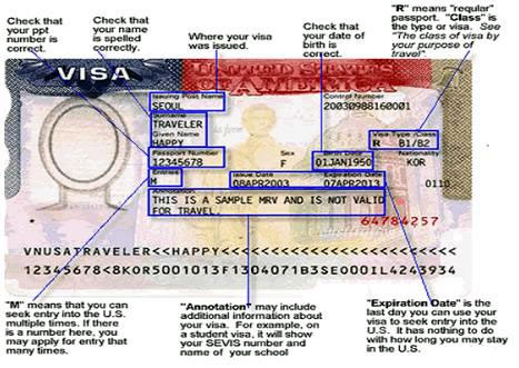 Visa Stamp Example